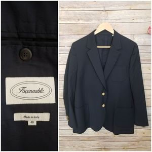 🌿Faconnable Navy Blue Dress Jacket Size 48🌿